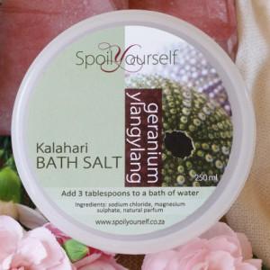 Kalahari Bath Salt – Geranium Ylangylang med