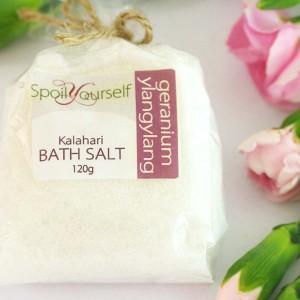 Kalahari Bath Salt – Geranium Ylangylang sml